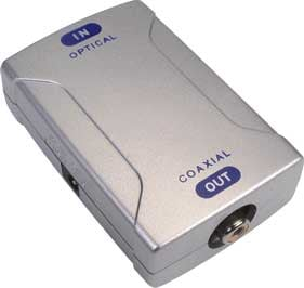 Optical TOSlink to Coaxial RCA PCM Audio Converter