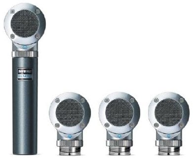 Side Address Instrument Microphone with 4 Capsule Kit