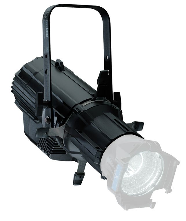 Source Four LED Lustr+ in Black, Engine Body and Shutter Barrel, Bare-End Lead