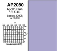 "20"" x 24"" Apollo Blue 1/8 CTB Gel Sheet"