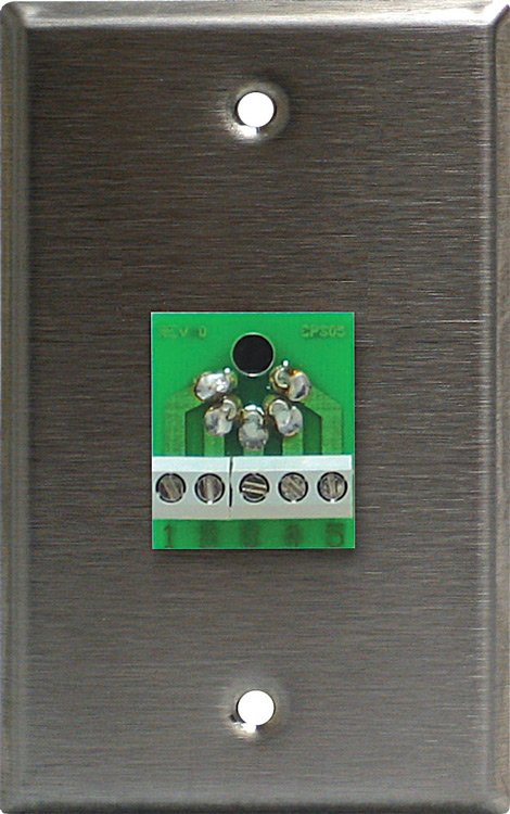 Single Gang Wall Plate with 5 Pin Female DMX Connector