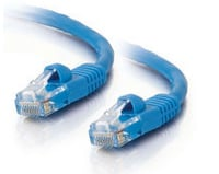 10' Cat5e Snagless Patch Cable, Blue