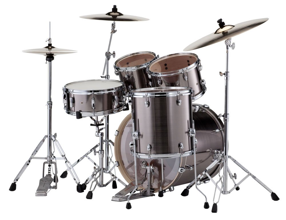 pearl drums exx705 21 exx export series 5 piece drum kit with hardware in smokey chrome finish. Black Bedroom Furniture Sets. Home Design Ideas