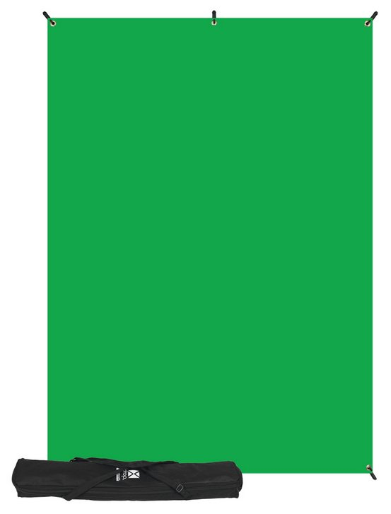 5 x 7 ft Green Screen X-Drop Backdrop Kit