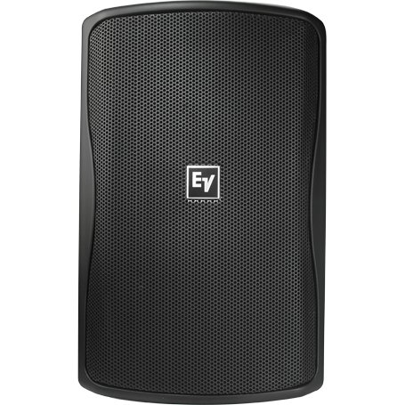 "8"" Indoor/Outdoor Speaker in Black with 100° x 100° Coverage Pattern and Multi-Tap 70/100V Transformer"