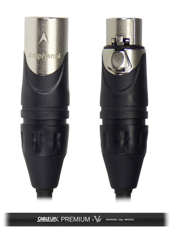 Cable Up by Vu MIC-ANA-XX-75 75 ft Neoprene XLR Microphone Cable MIC-ANA-XX-75
