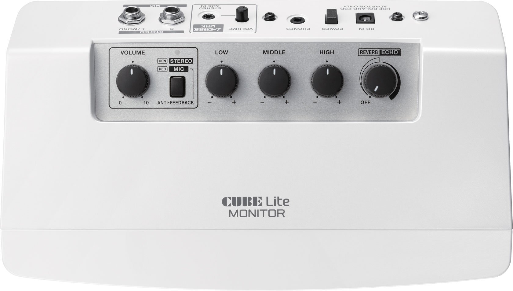 roland cube lite monitor 10w modeling microphone keyboard monitor amplifier in white full compass. Black Bedroom Furniture Sets. Home Design Ideas