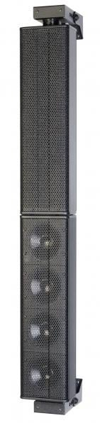 """4x 3.5"""" 600W Powered E 435 Mid/High Unit Wall Mount Array with Amplifier Module"""