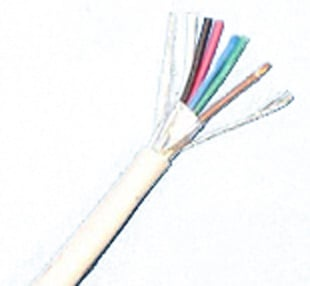 1000' White Commercial Grade 22 AWG 6 Conductor Plenum Shielded Cable