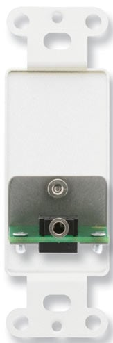 Decora-Style Stainless Steel Mini-Jack Pass-Thru Plate