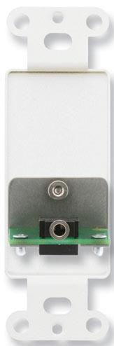Decora-Style Stainless Steel Mini-Jack Pass-Thru Plate