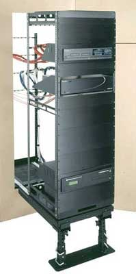 Rotating AXS Rack System for Millwork and In-Wall