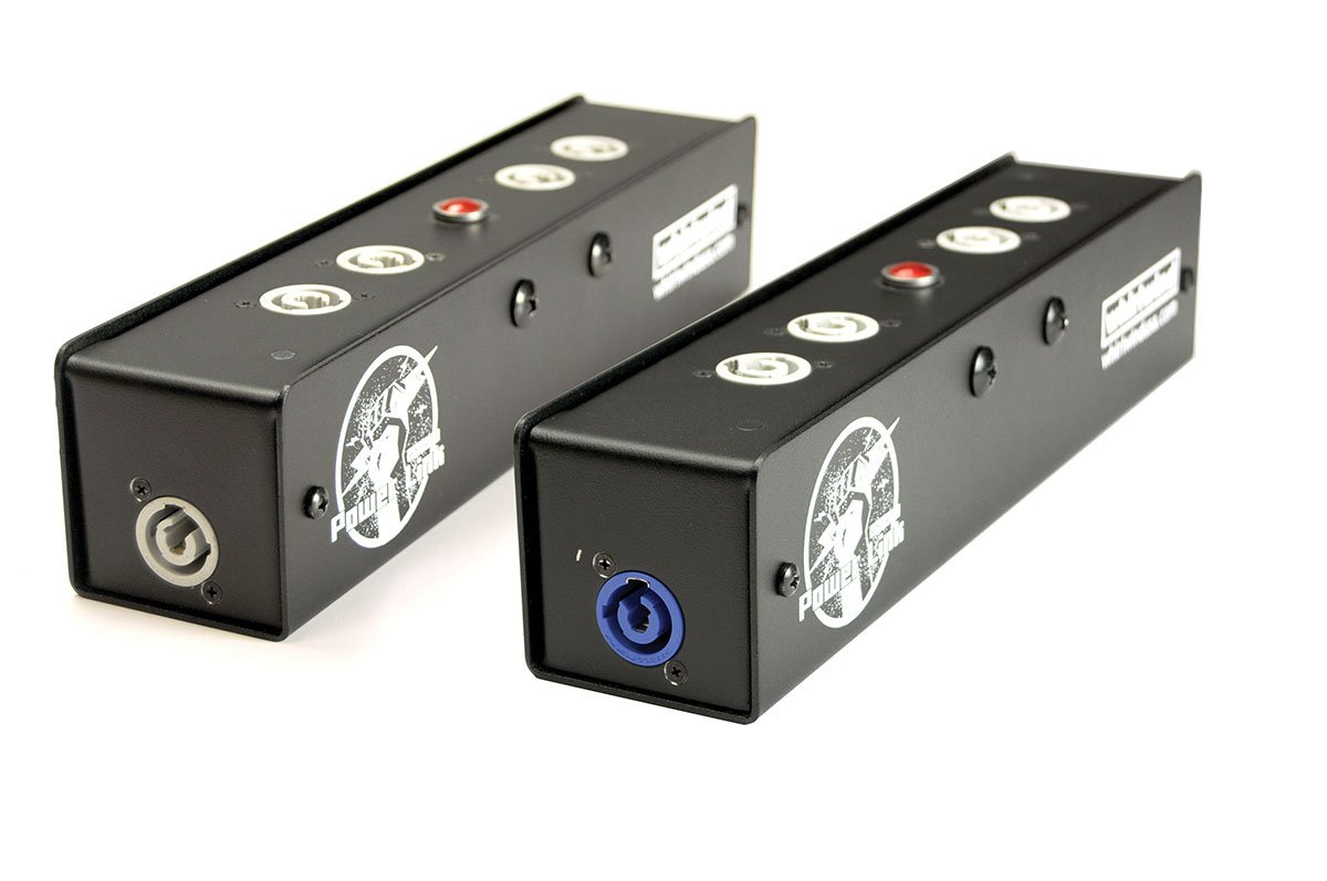 Power Link Distro with (1) 20A Powercon Inlet and (5) 20A Powercon Outlets