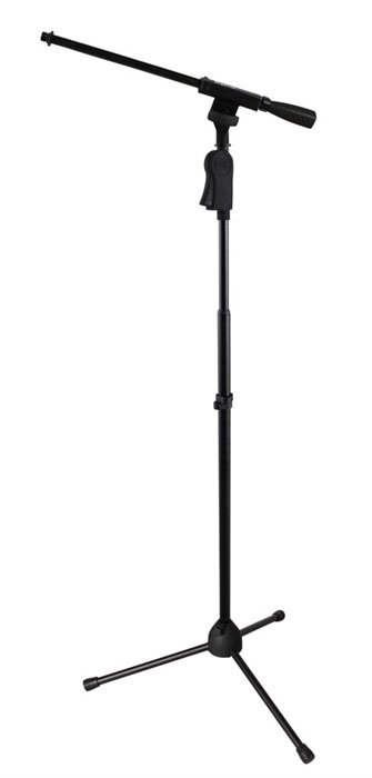 Frameworks Tripod Microphone Stand with Boom and One-Handed Clutch