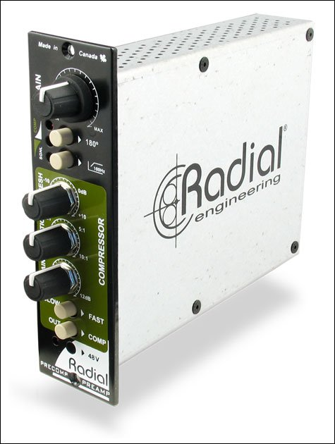 Radial Engineering PRE-COMP Channel Strip, With Microphone Preamp