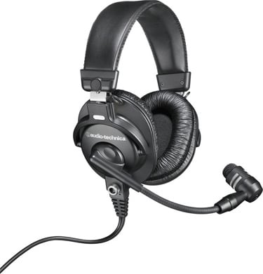 "Audio-Technica BPHS1 Over-Ear Broadcast Stereo Headset with 7.09"" Long Boom Microphone BPHS1"