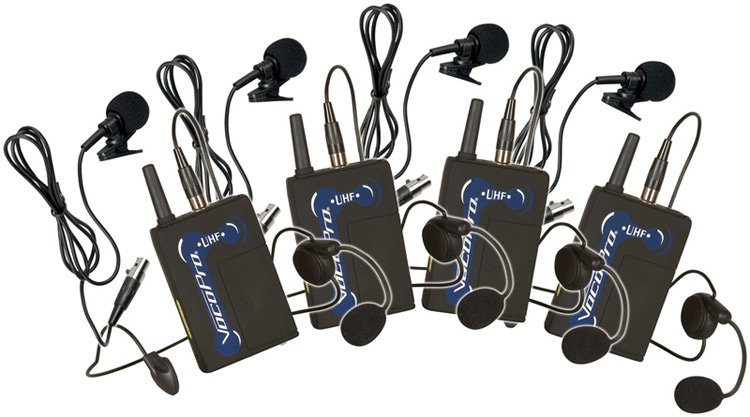 Wireless Bodypack Set with Headsets and Lavalieres