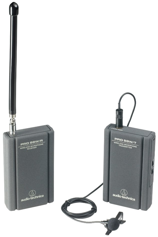 Wireless System with ATR3350MW Omni Lapel Microphone