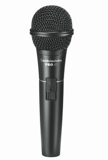 Audio-Technica PRO 41 Cardioid Dynamic Handheld Microphone with 15ft XLR Cable PRO41