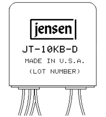 "Jensen Transformers JT-10KB-D Line Input Transformer 4:1 Stepdown for ""Balanced Bridging"" Inputs JT-10KB-D"