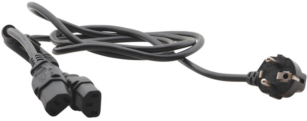 6' USA 110 V AC TBUS Power Cord Dual Outputs