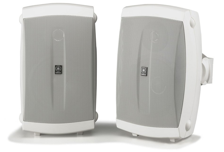 2 Way Outdoor Speakers, Pair, White