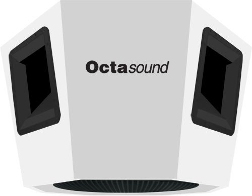 "Octasound SP860A 360° x 180° Ceiling Speaker with 4 Horn Drivers & 18"" Subwoofer in White SP860A"