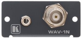 Wall Plate Insert - BNC & 3.5mm Stereo Audio to Terminal Block