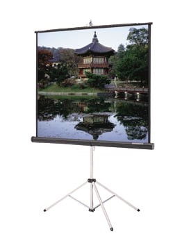 "50"" x 67"" Picture King® Portable Tripod Projection Screen, High Contrast Matte White"