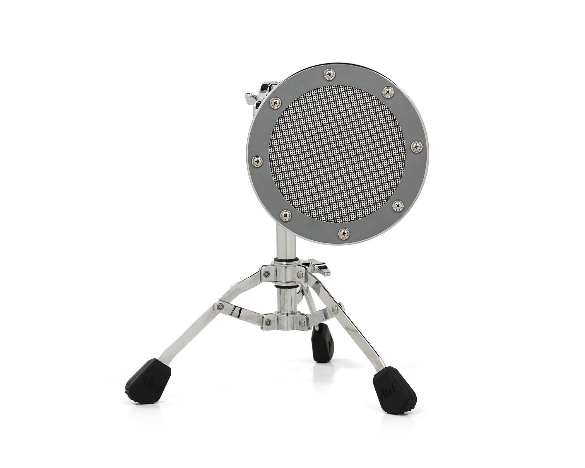 DW Moon Mic™ - Silver Acoustic Drum Resonating Head Microphone with Stand DSMM7000L