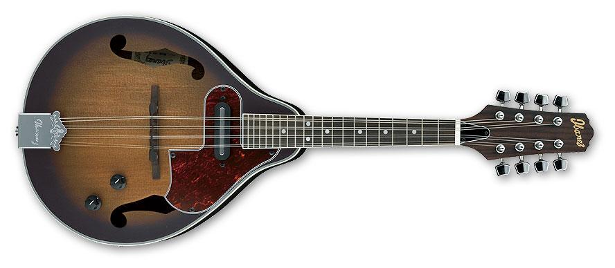 Ibanez M510EOVS Mandolin, Open Pore Vintage Sunburst with Pickup, Rosewood Fingerboard M510EOVS