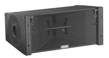 700W 3-Way Bi-Amplified Line Array Speaker in Black