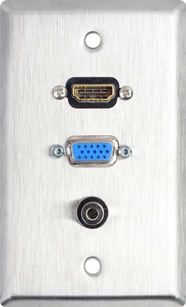 Wall Plate 1-Gang w/HDMI + 1, White
