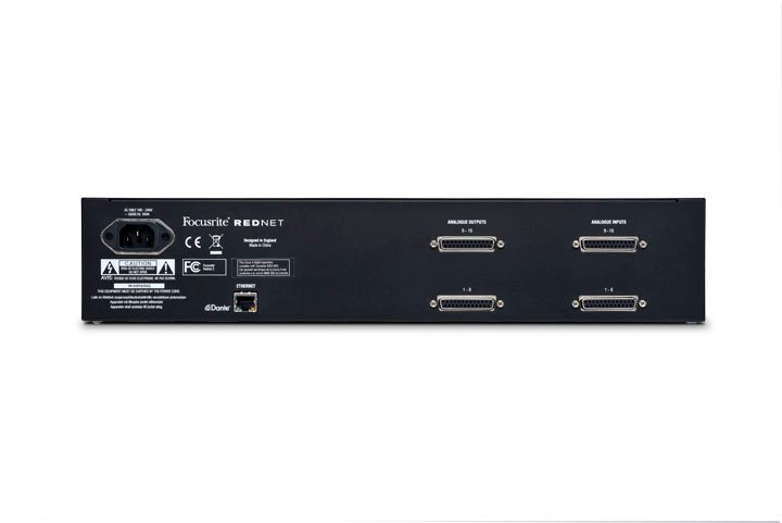 16-Channel AD/DA Remote Dante Interface for RedNet Network Audio System