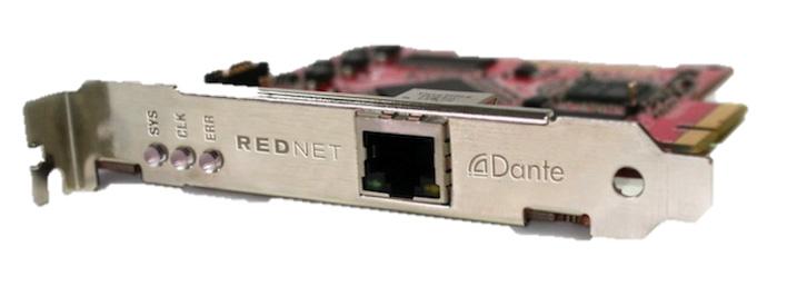 128 I/O RedNet PCI Express Interface for Mac/Windows PCs
