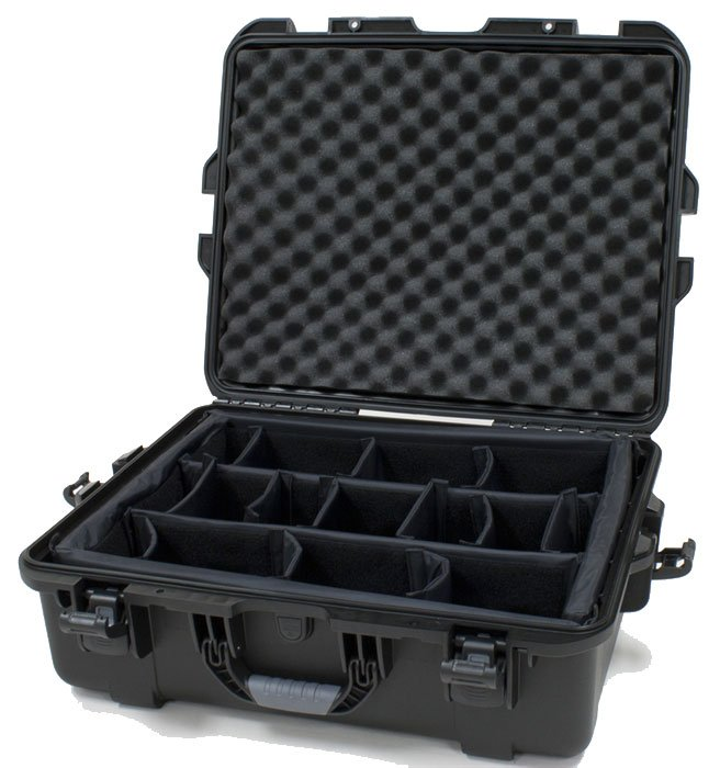 "Waterproof Case with Divider System, 22""x17""x8.2"""