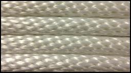 """3000 ft of 1/8"""" Diamond Braid Unglazed Spun White Cotton Tie Line"""