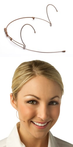Countryman H6OW6C-SR  H6 Omnidirectional Headworn Microphone, for Sennheiser wirelss, Cocoa (Beige Shown) H6OW6C-SR