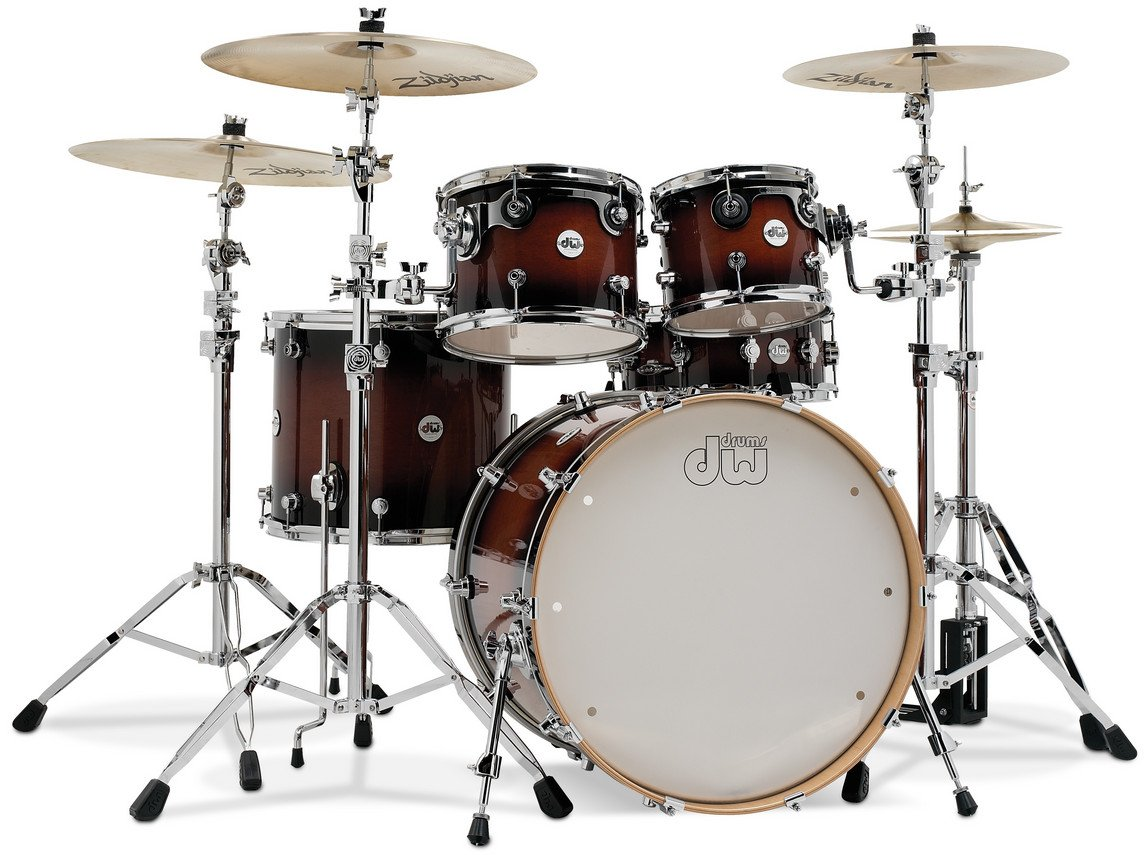 DW DDLG2215TB Design Series 5 Piece Shell Pack in Tobacco Burst Finish DDLG2215TB