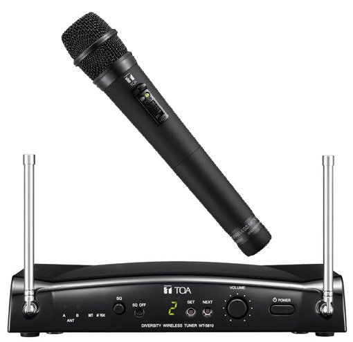 toa ws5225 16 channel uhf wireless system with tuner rechargeable handheld condenser microphone. Black Bedroom Furniture Sets. Home Design Ideas