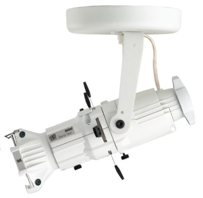 ETC/Elec Theatre Controls 4M19-1I Source Four Mini with Canopy-Mount in White, 19° Lens 4M19-I-1