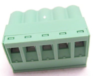 Combicon Series 5-Contact Phoenix Connector with Screw Terminated Plug - 5.08mm Pitch