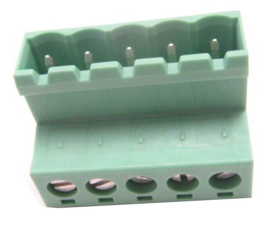 5.08 mm Inverted 5-Contact Phoenix Connector - Mates with 5.8 or 5.0