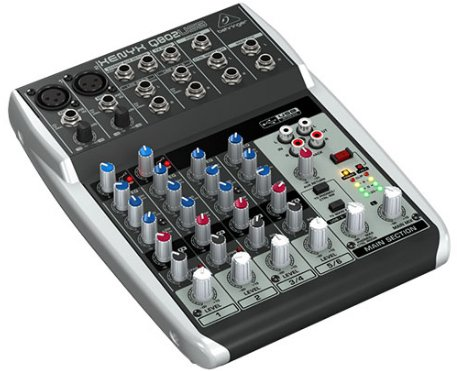 8 Channel 2 Bus USB Mixer