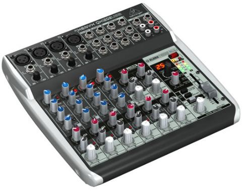 12-Ch 2-Bus USB Mixer, with Klark Teknik FX