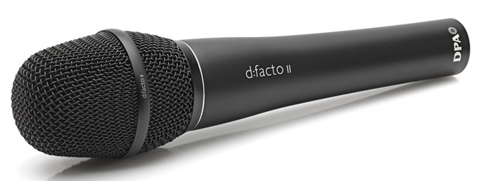 d:facto™ Supercardioid Handheld Microphone with DPA adapter