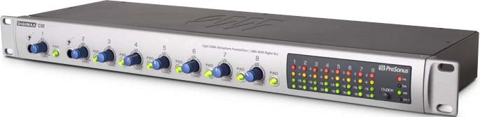 PreSonus DigiMax D8 [EDUCATIONAL PRICING] 8-Channel Preamplifier with 24-Bit ADAT Digital Output DIGIMAX-D8-EDU