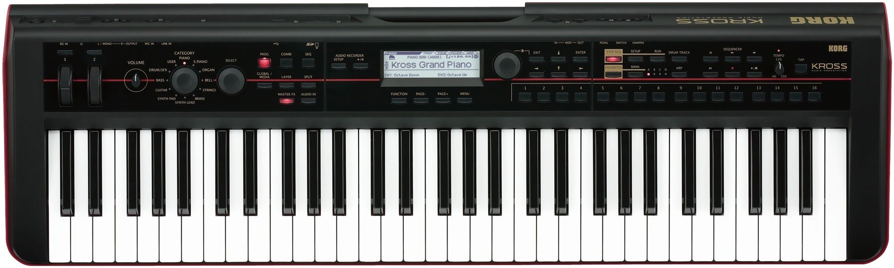 61-Key Workstation Keyboard/Synthesizer