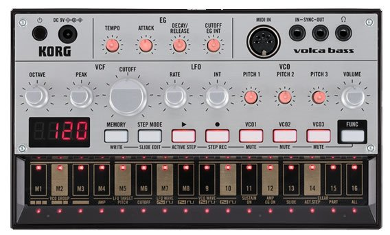 Korg Volca Bass Analog Bass Synthesizer VOLCABASS