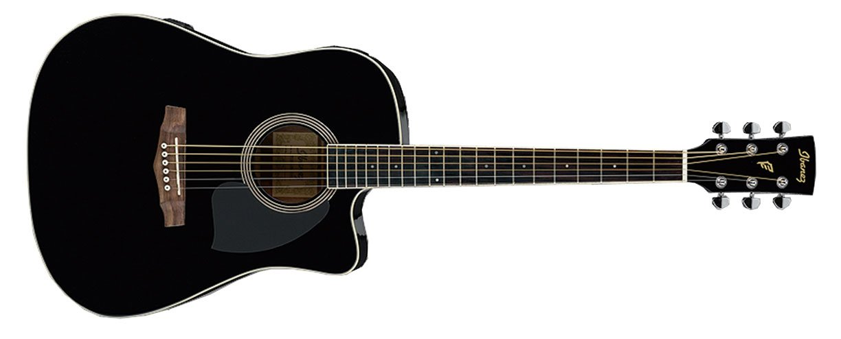 Electric Acoustic Guitar with Black Finish